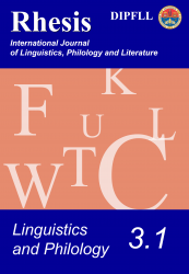 Linguistics and Philology 3.1