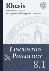 Linguistics and Philology 8.1